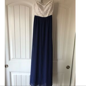 Dresses & Skirts - Blue and white floor length dress